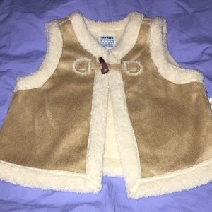 NWT Sherpa vest, 18-24 months